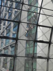 Fensterputzer bei der Arbeit von Kathrin Kiss-Elder