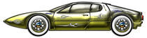 Gold and Silver Sports Car Matching Designer Graphics Package by Blake Robson