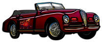 Large Convertible Classic Car by Blake Robson