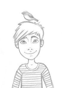 girl with a bird von Anna Ivanova