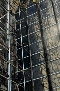 Gerüst an Fassade Kölner Dom von Kathrin Kiss-Elder