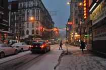 Snow on Mulberry Street von Ed Rooney