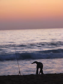 beach fisherman by jose Manuel del Solar