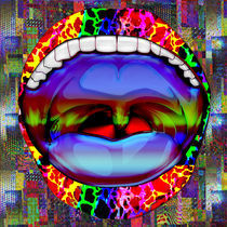 Modern Abstract Open Mouth by Blake Robson