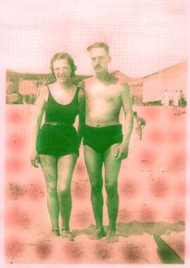couple beach by Mercedes tita