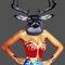 Deer-woman-print