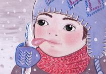 icicle licking by Anna Ivanova