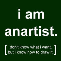 i am anartist (green) von georgios drakakis