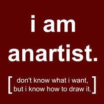 i am anartist (red) von georgios drakakis