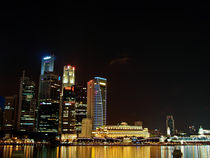 Singapore Business district skyline by mac-mik