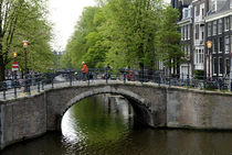 Bridge over Amsterdam canal by Ed Rooney