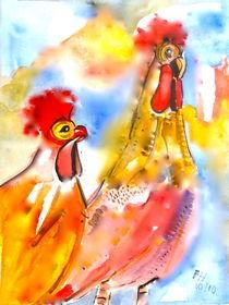 Hühnerpaar von Annegret Hoffmann