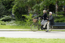 Two on a Bike in Amsterdam by Ed Rooney