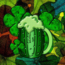 Saint Patrick's Day Green Beer Four Leaf Cover by Blake Robson