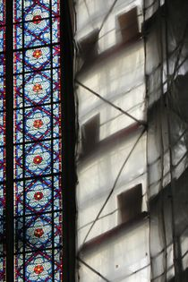Südfenster Kölner Dom mit Gerüst by Kathrin Kiss-Elder