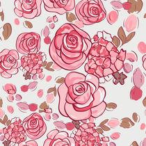 floral pattern with roses  von Varvara Kurakina
