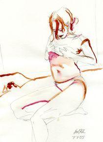 Akt in drei Farben 01 von Noel Koehn
