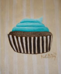 Blue Cupcake by Francesica Davis
