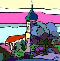 Pfarrkirche in Utting by SUSANNE eva maria  FISCHBACH
