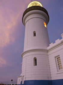 Cape Byron lighthouse looking up by photography-by-odille