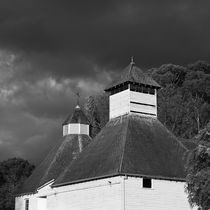 The Text Kiln (monochrome), Bushy Park, Tasmania