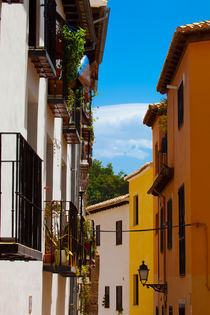 Colorful Street In Granada Spain by Marc Garrido Clotet