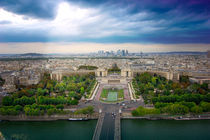 Panoramic view of Paris, France  by tkdesign