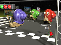 Racing snails von Michel Agullo