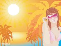Summer girl at sunset by Laura Gargiulo