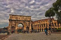 Arco di Constantino y Colosseum by Juan Carlos Lopez