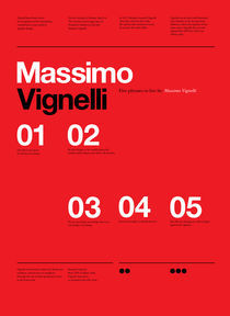 Vignelli Forever Typographic Series by Anthony Neil Dart