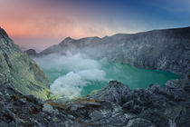 Sunrise in Ijen crater