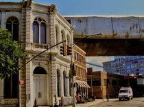 VICTORIAN BUILDING UNDER BROOKLYN BRIDGE by Maks Erlikh