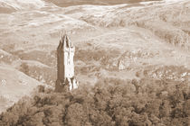 Wallace Monument Sepia by Buster Brown Photography