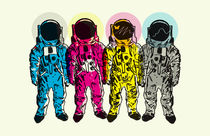 CMYK Spacemen by Matt Fontaine