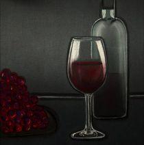 Weintrauben, Weinglas & Flasche von Anke Franikowski