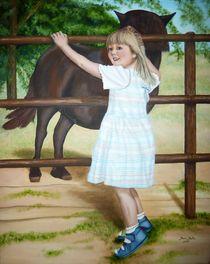kleines Mädchen mit Pferd von pjb-art