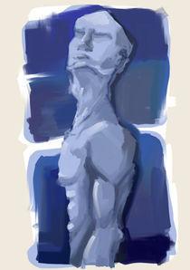 hombre azul by jose Manuel del Solar