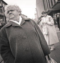 Woman in overcoat: Kassel, Germany von Ron Greer