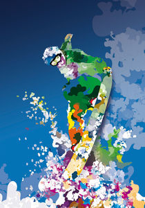 Colorful - Sports, snowboard by roguedesign