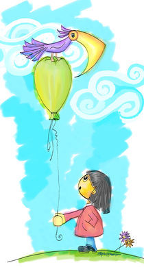 Green balloon by Paloma Herrera