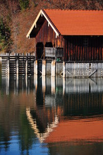 Bootshaus am Walchensee by Frank Rother