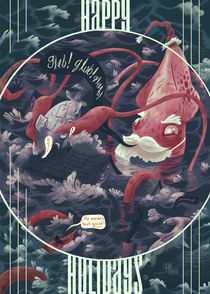 Christmas Squid by Logan Faerber