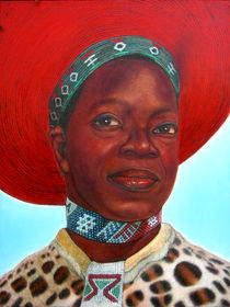 Zulu bride by Giora Eshkol