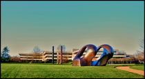 SCULPTURE OF HENRY MOORE AND HEAD QUARTER OF PEPSI COLA CAMPONY by Maks Erlikh