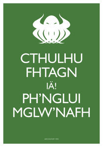 Keep Calm Cthulhu by John Coulthart