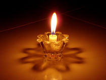 Candle Lamp on Glass stand by goldlens