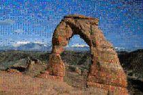 Delicate Arch als Mosaik von Anja Abel