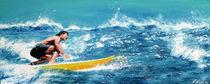 Surfer, gelbes Brett von Ewald Müller