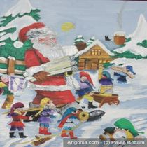 santa,s hometown von paula bettam